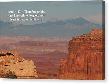 James 4-17  Canyonlands N P  Canvas Print