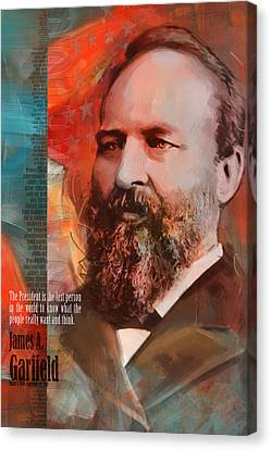 James Madison Canvas Print - James A. Garfield by Corporate Art Task Force
