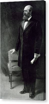 James A Garfield Canvas Print by Eliphalet Frazer Andrews