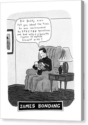 Bonding Canvas Print - James Bonding by Danny Shanahan