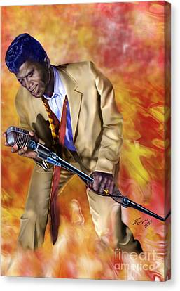 James Brown And His Famous Flames Canvas Print by Reggie Duffie