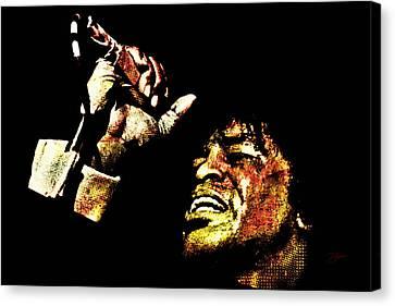 James Brown Canvas Print by Dancin Artworks