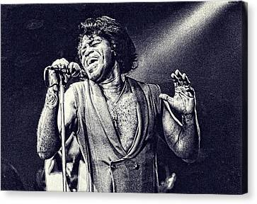 James Brown On Stage Canvas Print by Maciek Froncisz