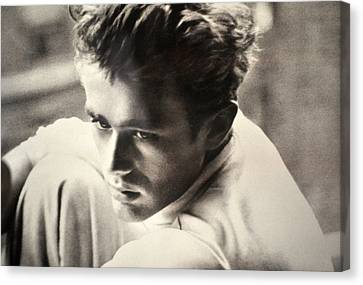James Dean Black And White Canvas Print by Jay Milo