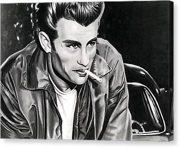 Celeb Canvas Print - James Dean by Cool Canvas