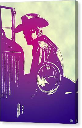 Icon Canvas Print - James Dean by Giuseppe Cristiano