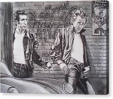 James Dean Meets The Fonz Canvas Print