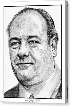 James Gandolfini In 2007 Canvas Print by J McCombie