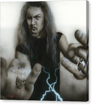 'james Hetfield' Canvas Print by Christian Chapman Art