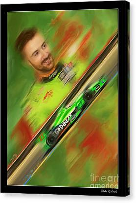 James Hinchcliffe Canvas Print by Blake Richards