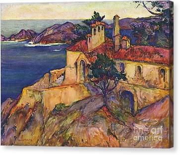 James House Carmel Highlands California By Rowena Meeks Abdy 1887-1945  Canvas Print by California Views Mr Pat Hathaway Archives