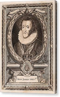 James I Canvas Print by Middle Temple Library