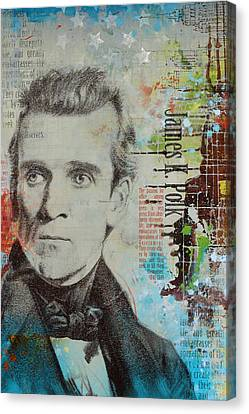 James K. Polk Canvas Print by Corporate Art Task Force