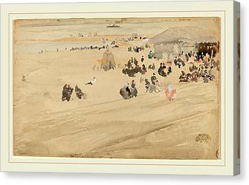 Beach Scenes Canvas Print - James Mcneill Whistler, Beach Scene, American by Litz Collection