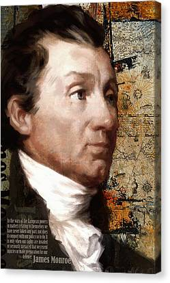 Founding Fathers Canvas Print - James Monroe by Corporate Art Task Force
