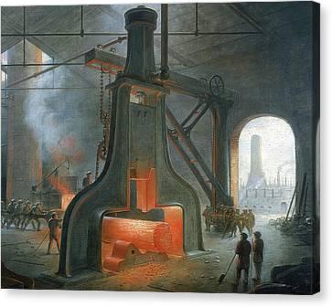 James Nasmyth's Steam Hammer Canvas Print by James Nasmyth