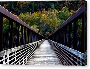 James River Footbridge Canvas Print by Cathy Shiflett