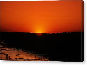Canvas Print featuring the photograph James River Sunset by John Harding