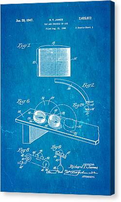 Helical Canvas Print - James Slinky Toy Patent Art 1947 Blueprint by Ian Monk