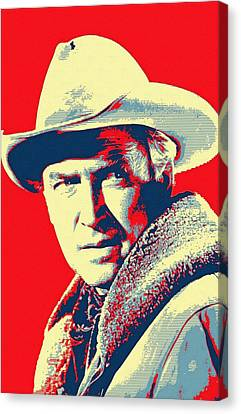 James Stewart In The Far Country Canvas Print by Art Cinema Gallery