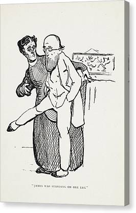 James Was Standing On One Leg Canvas Print by British Library