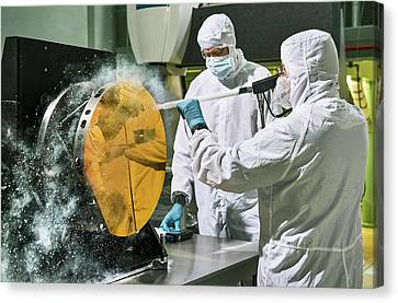James Webb Space Telescope Cleaning Canvas Print by Nasa, Chris Gunn
