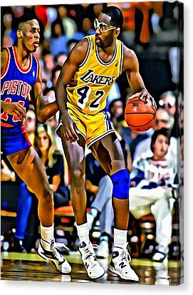 James Worthy Canvas Print by Florian Rodarte
