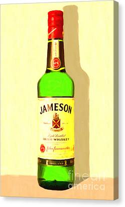 Jameson Irish Whiskey 20140916 Painterly V1 Canvas Print by Wingsdomain Art and Photography