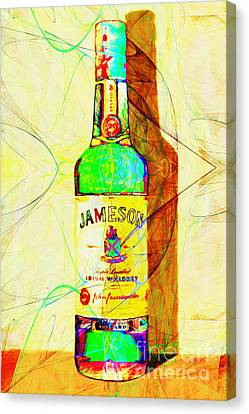 Jameson Irish Whiskey 20140916 Painterly V2 Canvas Print by Wingsdomain Art and Photography