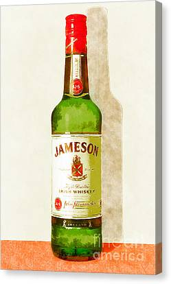 Jameson Irish Whiskey 20140916wc Canvas Print by Wingsdomain Art and Photography