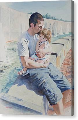 Jamie And Frankie Canvas Print