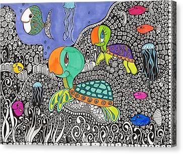 Jamie And Jason Canvas Print by DeeAnna Nevins