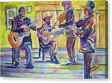 Jammin Canvas Print by Linda Vaughon