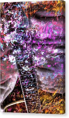 Jammin Out Digital Guitar Art By Steven Langston Canvas Print by Steven Lebron Langston