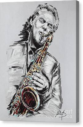 Jan Garbarek Canvas Print by Melanie D