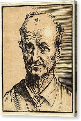 Jan Lievens, Bust Of A Balding Man, Dutch Canvas Print