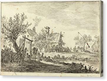 Jan Van Goyen Dutch, 1596 - 1656, Wayside Inn Canvas Print