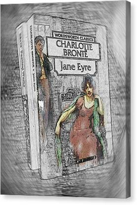 Jane Eyre Book Abstract Canvas Print by Nik Helbig