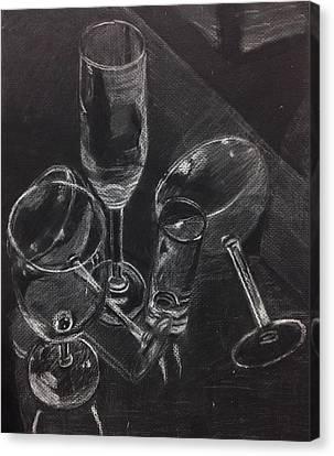 Janet Fish Inspired Still Life Canvas Print