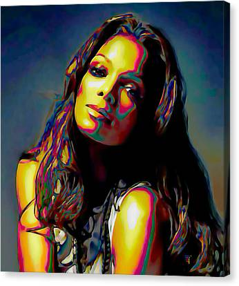 Janet Jackson Canvas Print by  Fli Art