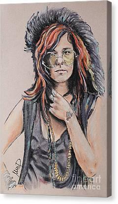 Janis Joplin Canvas Print by Melanie D