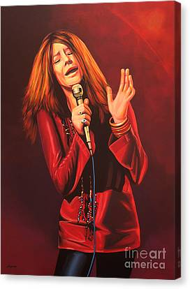 Janis Joplin Painting Canvas Print by Paul Meijering