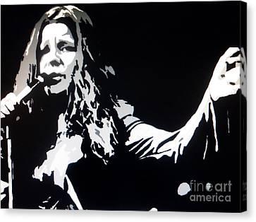Janis Joplin Pop Art Canvas Print by Ryszard Sleczka