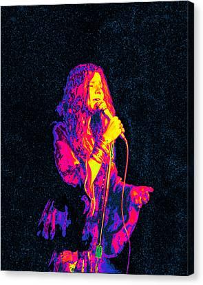 Janis Joplin Psychedelic Fresno  Canvas Print by Joann Vitali