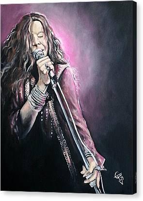 Janis Joplin Canvas Print by Tom Carlton