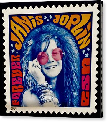 Janis Stamp In A Groovy Vibe Canvas Print by Rob Hans