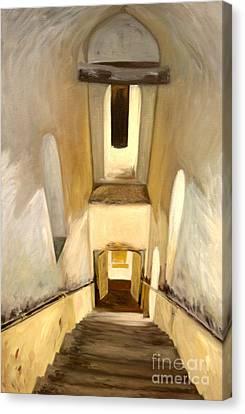 Jantar Mantar Staircase Canvas Print