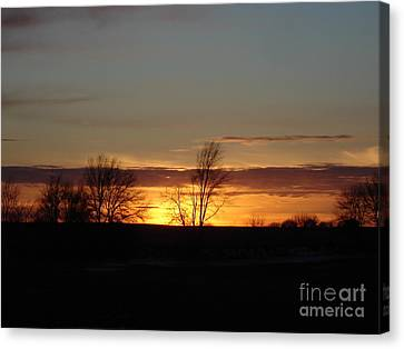 January 13th Sunset Canvas Print by J L Zarek