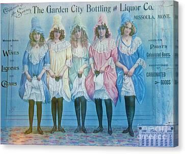 January 1896 Advertisement Canvas Print by Steven Parker