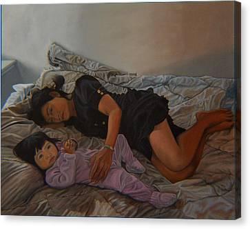 January Afternoon Mukilteo Washington Canvas Print by Thu Nguyen
